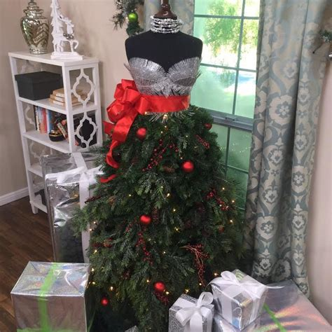 use a dress form to create a chic christmas tree this year