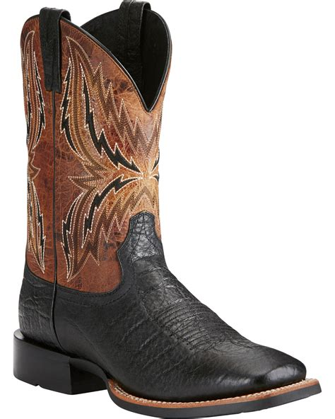 ariat square toe cowboy boots ariat s arena rebound elephant print cowboy boots