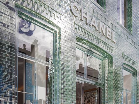 built with a chanel store in amsterdam was built with beautiful glass