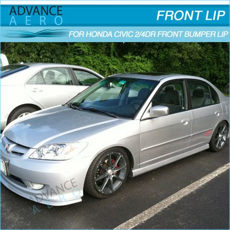 for 2004 2005 honda civic front lip type a style pu front