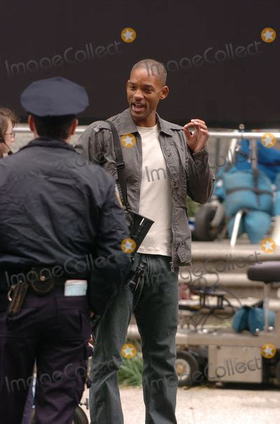 Will Smith And Braga On Set Of I Am Legend October 15 2006 by Will Smith Pictures And Photos