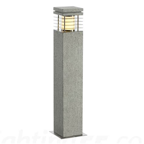 Outdoor Bollard Lighting Fixtures Arrock Granite 70 Outdoor Bollard Light Salt Pepper By Slv Lighting At Lighting55
