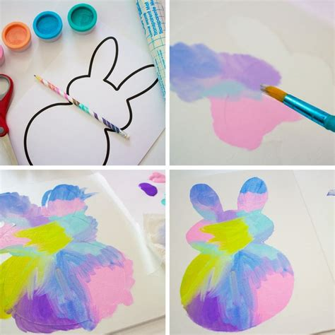 easy easter craft painting eggs easy easter bunny painting activity my bored toddler