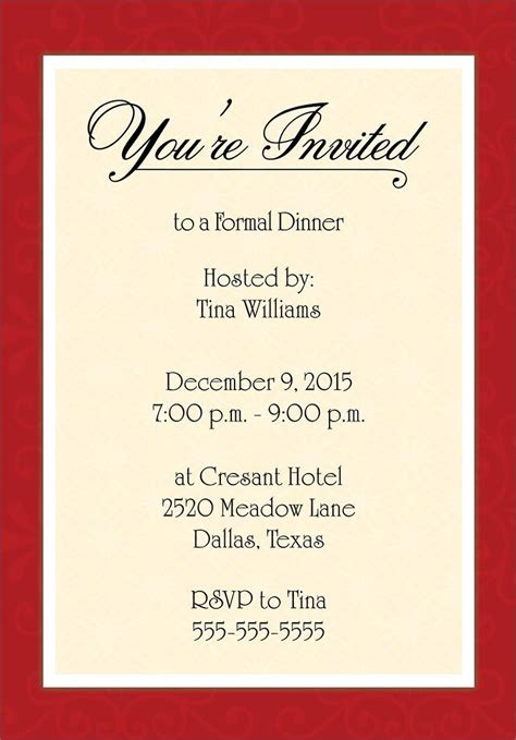 banquet invitation templates free dinner invitation template free places to visit