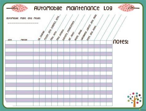 car maintenance log printable for my truck pinterest