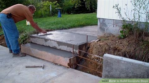 Build Concrete Steps Step By the best way to build concrete steps wikihow