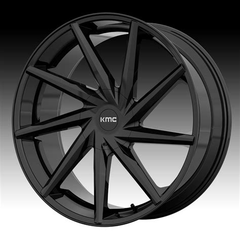 black wheels kmc km705 burst gloss black custom wheels rims kmc