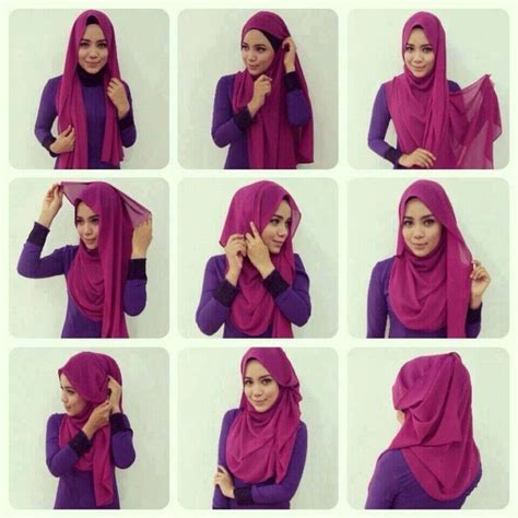 tutorial hijab pashmina modern simple 17 best images about hijab tutorial easy style on
