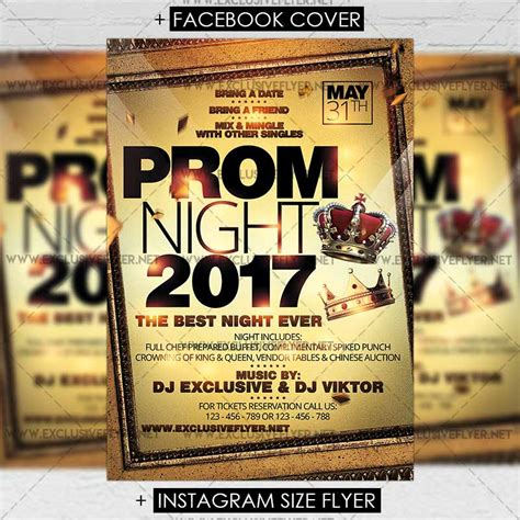 prom night premium flyer template exclsiveflyer free
