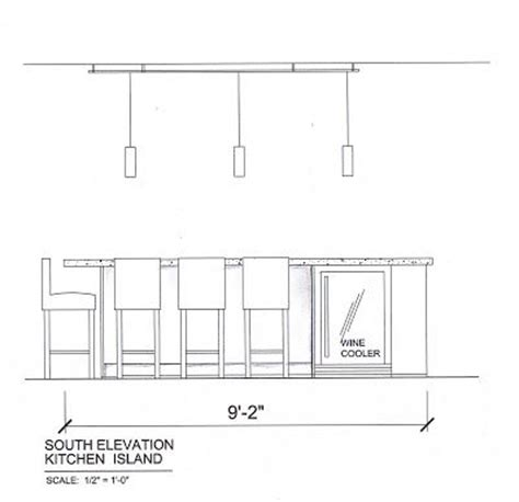 Island Bench Kitchen kitchen island elevation love to draw pinterest