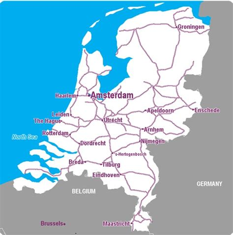 netherlands map airports the netherlands rail map airport guide