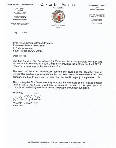 Endorsement Letter To The President World Memorial Staff Vision