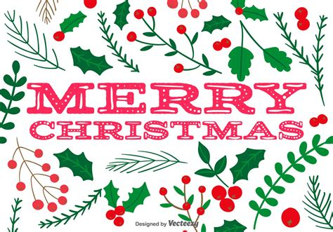 holly merry christmas vector background   vectors clipart graphics vector art