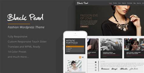 wordpress themes responsive black black pearl responsive fashion wordpress theme by
