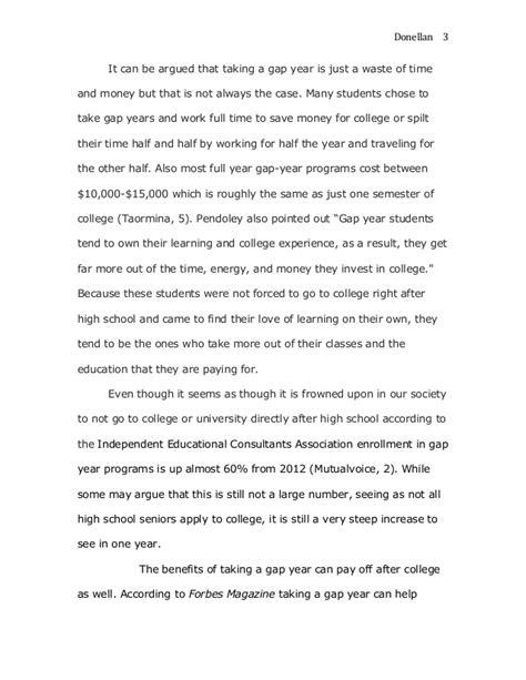 Of The Year Essays gap year essay
