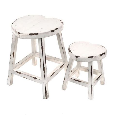 shabby chic stool set of 2 shabby chic vintage distressed white
