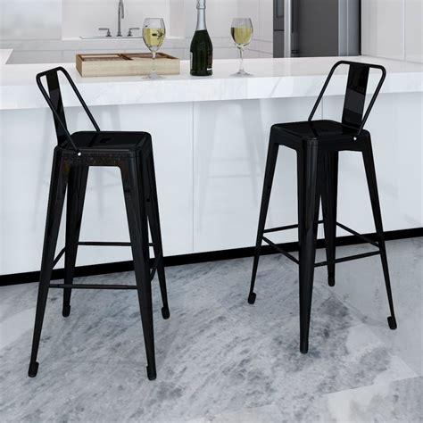 bar high stools bar chair high chairs bar stools square 2 pcs back black