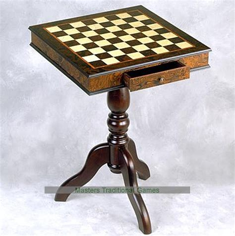 Chess Board With Drawers by Giglio 51cm Square Chess Table With Drawer