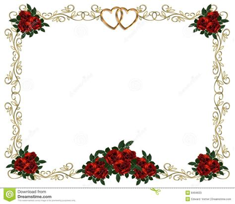 free wedding invitation borders and frames roses border wedding invitation stock photos image