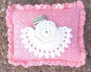 Crochet pattern for tooth fairy angel pillow