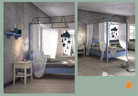 letto a baldacchino una piazza e mezza cameretta classica con letto a baldacchino