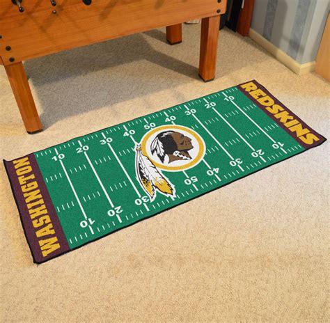 redskins rugs fan mats 7369 nfl washington redskins 30 quot x 72 quot football field shaped runner rug mat