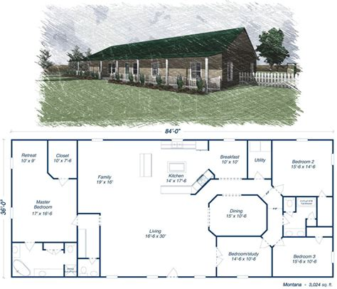 metal barn house plans steel building on pinterest steel homes floor plans and