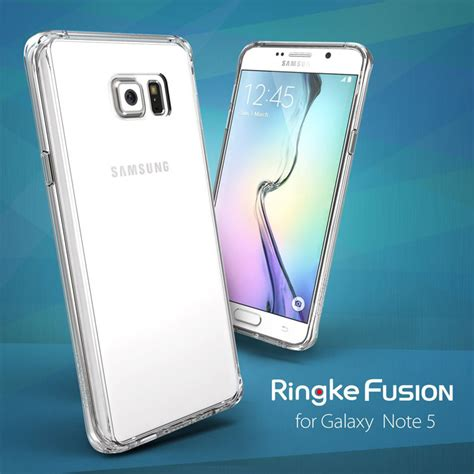 Awet Ringke Galaxy Note 5 Fusion Smoke Black Limited rearth ringke fusion samsung galaxy note 5 smoke black mobilezap australia