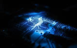 Nightcore Lights Blue Led Wallpaper Blue Wallpaper Cpu Computer