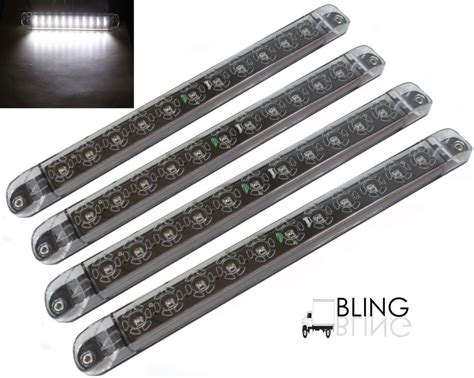 Led Backup Light Bar 4x 17 Quot White Surface Mount Backup Driving Truck
