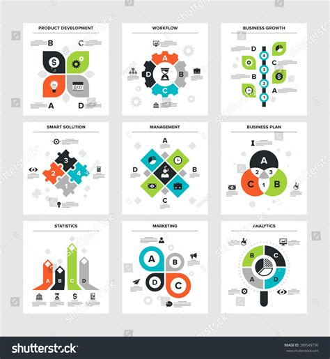 business development workflow vector illustration of business infographics on following