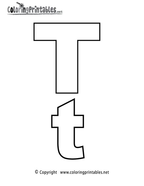 T Coloring Pages by Alphabet Letter T Coloring Page A Free Coloring