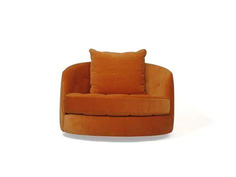orange swivel tub chair milo baughman for thayer coggin swivel tub chair in orange