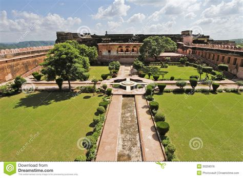 Formal Garden Design - charbagh garden at jaigarh fort royalty free stock image image 30259316