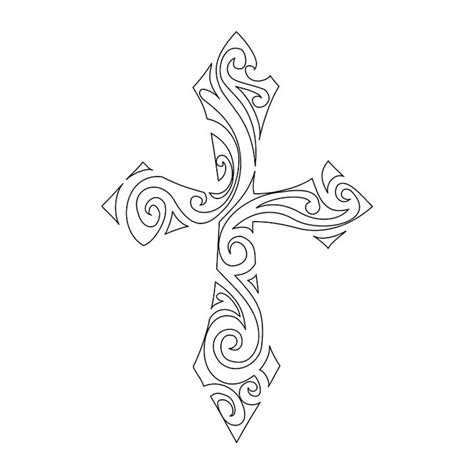 cross tattoo stencil free tribal cross stencil crosses stencils