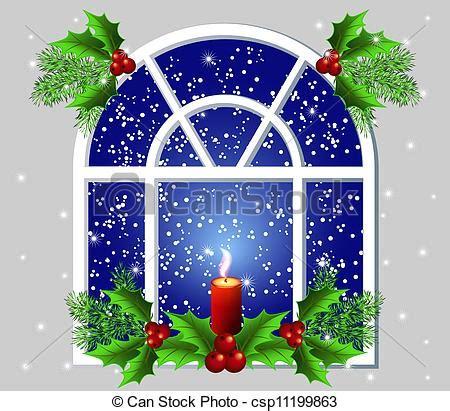 Weihnachtsdeko Fenster Stock by Clip Vektor Fenster Weihnachten Weihnachten