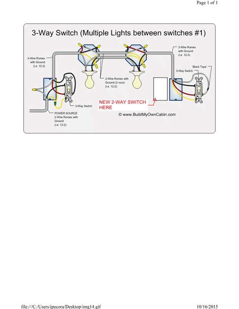 3 way switch wiring diagram lights diagram