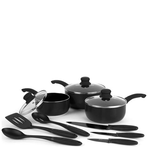 Pisau Set Russel Hobbs hobbs 9 cookware set homeware zavvi
