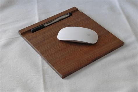 Handmade Mouse Pad - handmade wooden mousepad and computer stand by clark wood