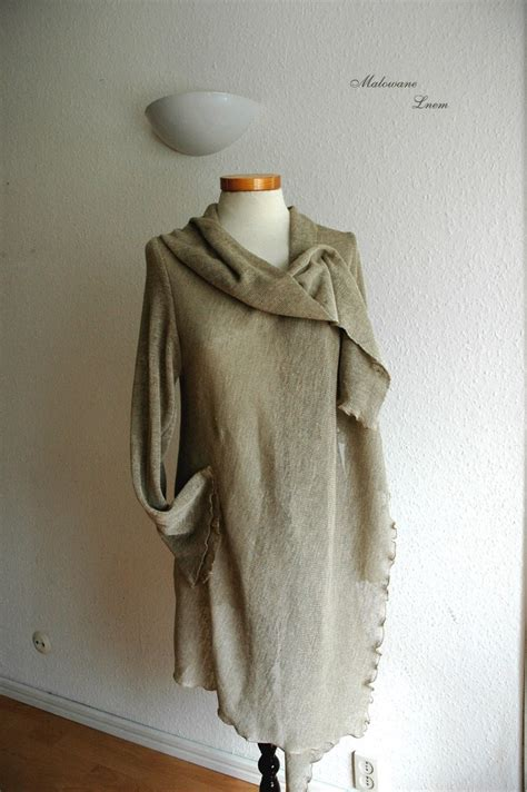 knitting pattern linen sweater linen cardigan natural with linen knitted eco friendly