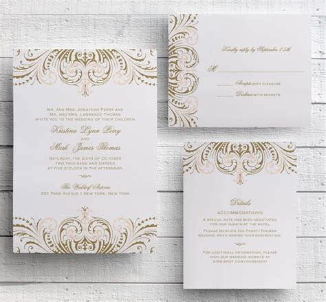 Wedding Invitations Gatsby by Blush Pink And Gold Invitations Diy Wedding Invitation