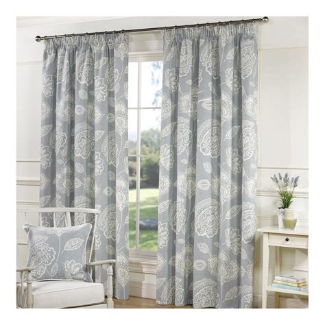duck egg blue floral curtains lizzy duck egg curtains