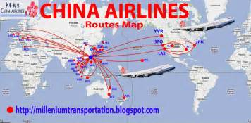 civil aviation china airlines routes map