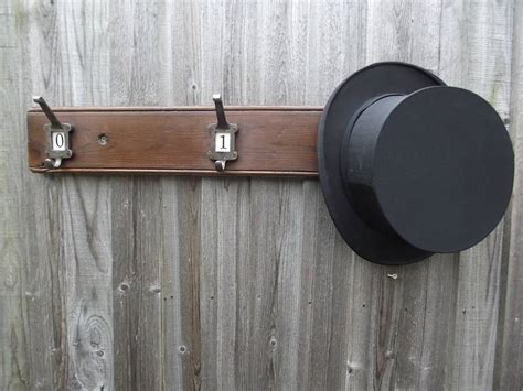 woods vintage home interiors number hat and coat hook board by woods vintage home