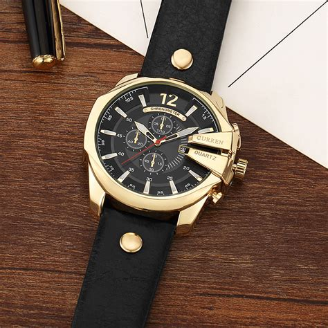Jam Tangan Curren Analog Pria Cowok Casual Sport Grosir Murah Terbaru curren jam tangan analog pria mk52 white gold jakartanotebook
