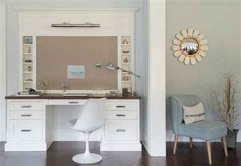 White Desk With Wood Top Bulletin Board And Picture