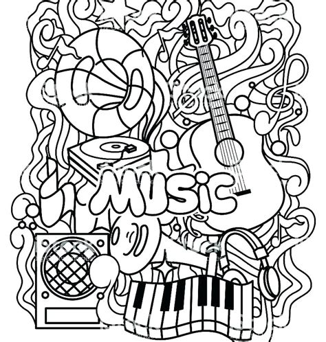 printable coloring pictures coloring worksheets pages for printable musical
