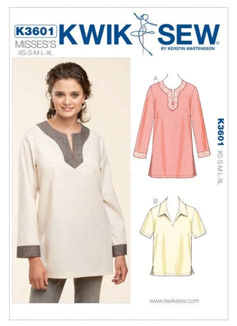 sewing pattern ladies top kwik sew ladies easy sewing pattern 3601 pullover tops
