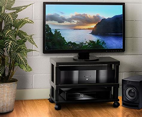 entertainment center on wheels aleratec 3 tier lcd led tv stand entertainment rack with