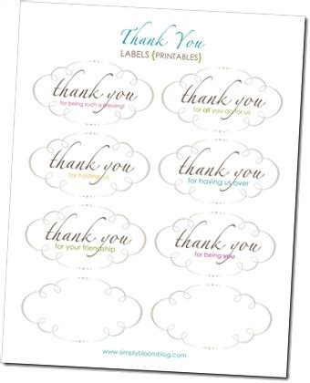 thank you letter housewarming gift printable thank you hostess gift tags gifts housewarming